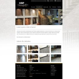 Strona internetowa firmy HBP Manufaktur